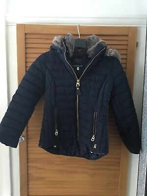 Joules Girls Navy Padded Coat Age 7-8 Years Smart Warm Top Quality