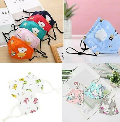 Pm2.5 Kids Washable Reusable Cotton Breathable Children Adjustable Face Mask