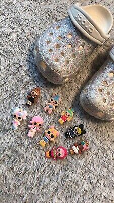 NEW LOL Dolls 9Piece Lot   CROC CHARMS JIBBITZ