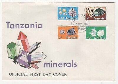 1986 TANZANIA First Day Cover MINERALS SG469 to SG472