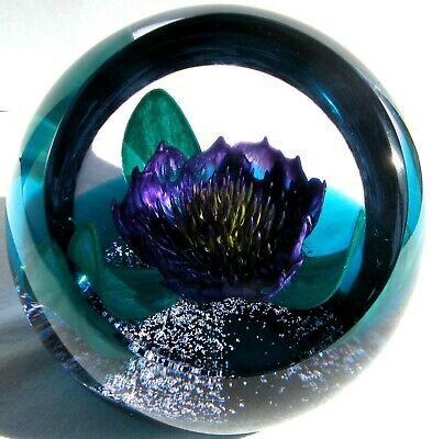 Briefbeschwerer Paperweight CAITHNESS GLASS Tropicana Style Two 1996, Zertifikat