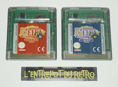 ++ jeu nintendo game boy color the legend of ZELDA oracle of seasons et ages EUR