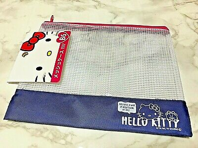 DAISO SANRIO HELLO KITTY Mesh case B6 Blue Color from Japan Free Shipping