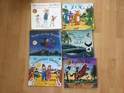 Bundle of Julia Donaldson books Zog, Witch and the Broom, Scare crows wedding