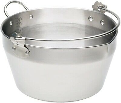 Home Made Maslin/Jam Pan for Induction Hob Stainless Steel KitchenCraft 9 L New
