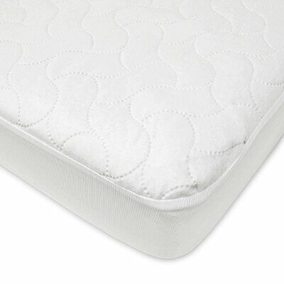American Baby Company Fitted Crib Toddler Protective Mattress Pad Cover 22863-WT
