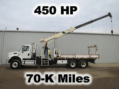 M2 450-Hp Mb Tandem Axle 37-Ft Crane Boom Lift Magnet Grapple Truck Low Miles
