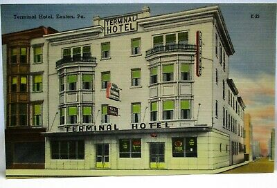 1940s POSTCARD TERMINAL HOTEL EASTON PA