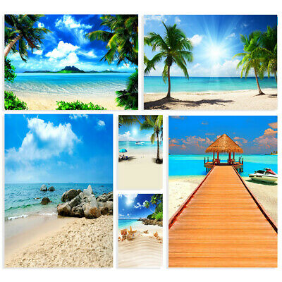 Summer Seaside Beach Photography Background Photo Studio Backdrop Props 6*9ft