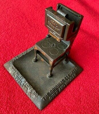 A9) 1900's Real Economy Match Holder Safe Cleveland OH Hotel Ranges Stove Heater