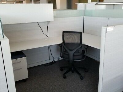 Used Office Cubicles, Allsteel Terrace 8x6 Cubicles