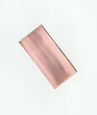 Pure Copper Plate Anode 99.98% Bright Electroplating Sheet 0.8 x 50 x 100 mm