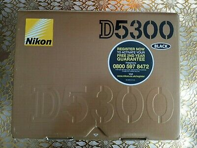 Nikon D5300 24.2 MP Digital SLR Camera - Black (Body) Mint Condition