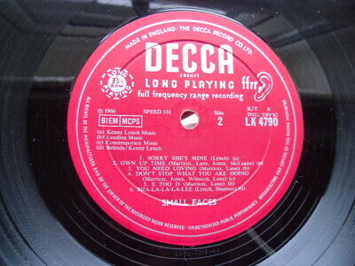 "THE SMALL FACES ""First album"" ORIGINAL DECCA VINYL LK 4790 G00D CONDITION"