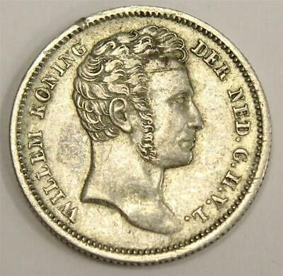 1834 Netherlands East Indies 1/4 Gulden VF25