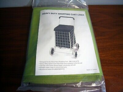 Shopping Cart Folding Liner Waterproof Heavy Duty Laundry Grocery Utility Basket