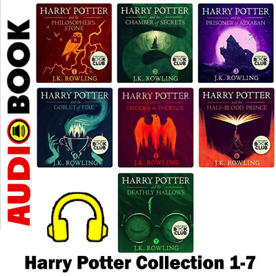 Harry Potter Collection 1-7 🔥(Audiobook and Books) 🔥📧 Email Delivery 📧