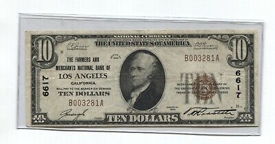 1929 National Currency $10.00 Bank Note