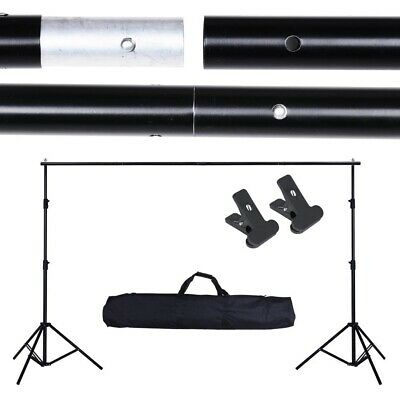 10x7ft Adjustable Photo Backdrop Support Stand Studio Photography Background