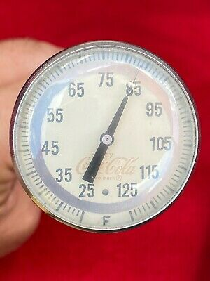 A9) Vintage Coca Cola Bottle Syrup Thermometer Cooking Testing COKE Sign OLD