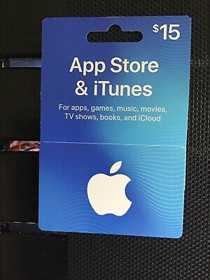 Apple Itunes Gift Card $15 ACTUAL CARD