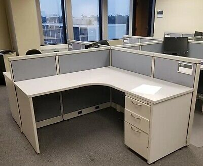 Used Office Cubicles, Steelcase Avenir 6x6 Cubicles