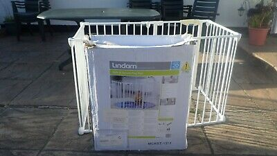 Lindam Safe & Secure Playpen With Gate /Stairgate -Collection Only North Devon