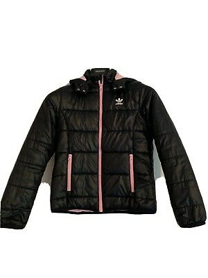 ADIDAS Black Jacket Size 11-12 Yrs Girls