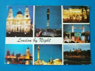 "London by Night, 4.25"" x 5.75"" Used Postcard"