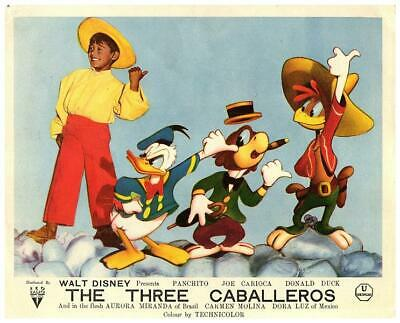 The Three Caballeros Walt Disney Animation Original Lobby Card 1944 Donald Duck