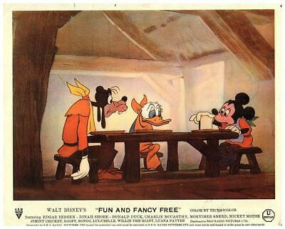 Fun and Fancy Free Walt Disney Animation Original Lobby Card 1947 Mickey Mouse