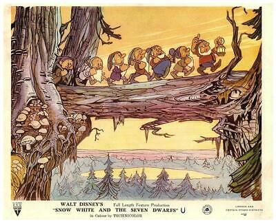 Snow White and the Seven Dwarfs Walt Disney Animation Original Lobby Card 1937