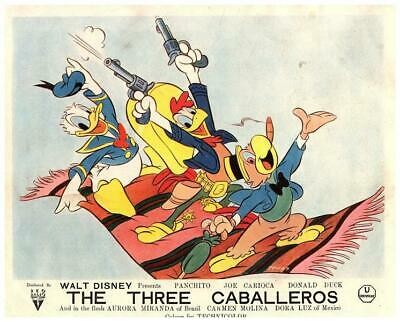 Three Caballeros Walt Disney Original Lobby Card Donald Duck Panchito Animation