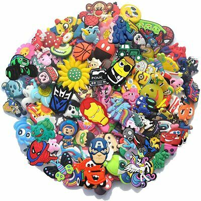 100 Mixed Pvc Shoecharm Lot Different Shoe Charms For Croc And Jibbitz Wristband