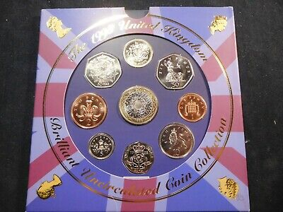 N47 Great Britain 1998 9 Coin Brilliant UNC Coin Collection