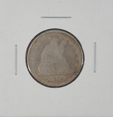 1874 Seated Liberty Arrows Early Silver Quarter