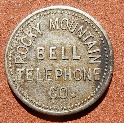 Vintage TOKEN ⚜️ Rocky Mountain Bell TELEPHONE One Local Switch COLORADO