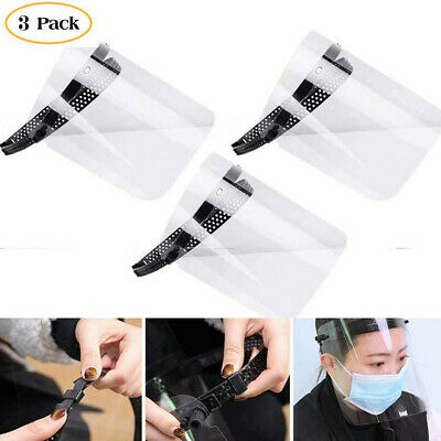 Full Face Shield Cover Clear Flip Up Anti-Fog Oil Work Safety Protection Face