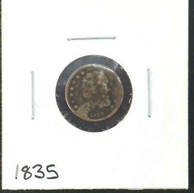 1835 Capped Bust Half Dime (5c) Early Silver American Coin