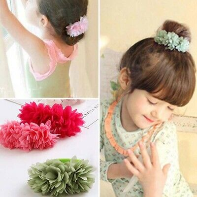 Hair Bands Multi-layer Flower Elastic Girls Kids Accessories Clips Elastic
