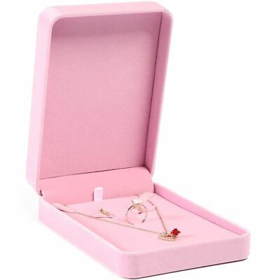 Wedding Jewelry Velvet Display Case Holder for Necklace Earring Ring Bracelet
