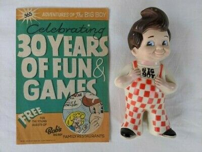 1973 BOBs BIG BOY Rubber Toy Coin Bank and Adventure of the Big Boy comic #365