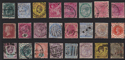GB & Empire Stamps 24 Queen Victoria Selection from Old Album