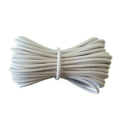 Round Elastic cord - stretch bungee 4mm 10m long WHITE - FREE POST