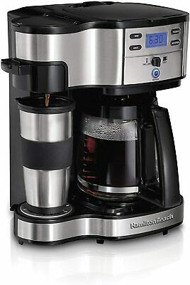 Hamilton Beach 2-Way Brewer 49980A, Single Serve Coffee Maker and Full 12 Cup