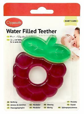 Clippasafe WATER FILLED TEETHER BERRY Baby Weaning - NEW