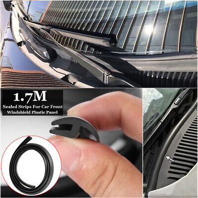 Universal Car Front Under Windshield Panel Sealed Trim Moulding Rubber Strips