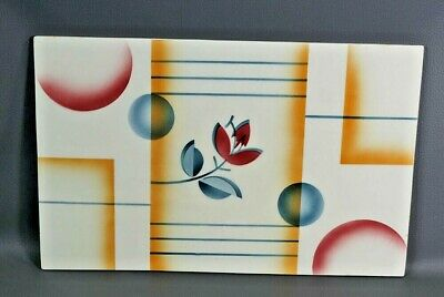 Art Deco German Spritzdekor Serving Platter Board Suprematism Geometric Plaque