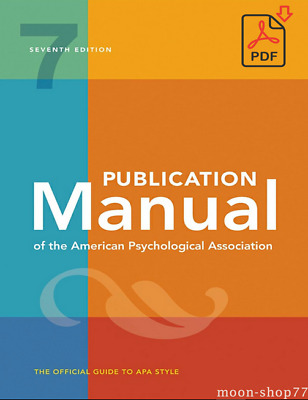 Publication Manual of the American Psychological Association 7th Ed 2020  ‮  FDP