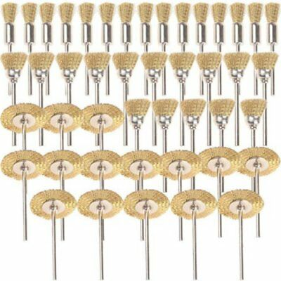 45X Brass Wire Wheel Brush for Dremel Cup Rotary Tool Drill Rust Weld Grinder